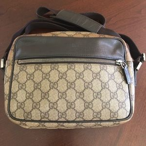 Gucci Canvas And Leather Crossbody
